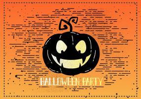 Gratis Vintage Halloween Pompoen Vectorillustratie