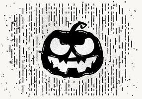 Gratis Scary Halloween Pompoen Vector