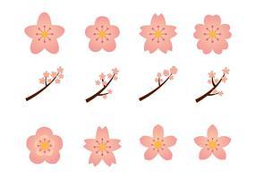 Bloemenbloemen Grafiek Set vector