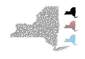 Kaart van New York vector