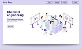 chemische engineering isometrische webpagina