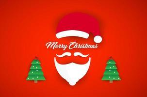 kerstman baarden en vrolijk kerstfeest