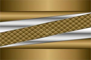 moderne zilver en goud metallic achtergrond