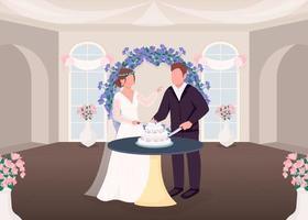 snijden cake traditie vector