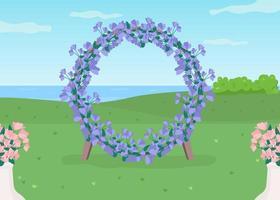 blauwe bloemenboog vector