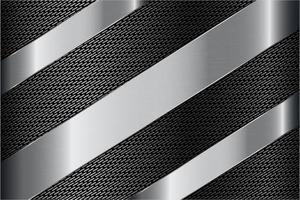 moderne zilveren en grijze metalen achtergrond