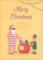 kerstman groet wenskaart