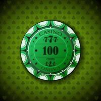 pokerchip nominaal honderd vector