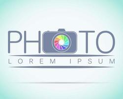 fotostudio-logo mock-up lichte voorbeeldtekst vector