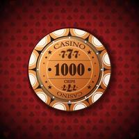 pokerchip nominaal, duizend vector