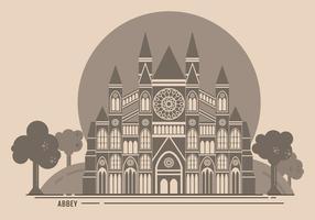 Westminster abbey vrij vector illustratie