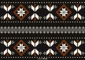 Borneo / Dayak Style Patroon Achtergrond vector
