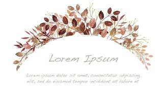 aquarel herfst botanische boog achtergrond vector