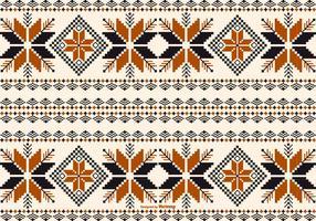 Dayak / Borneo Stijlpatroon Achtergrond vector