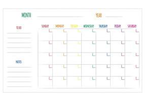 Gratis unieke maandelijkse kalendervectoren