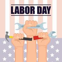 gelukkige viering van de dag van de arbeid in de VS. vector