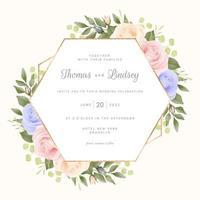 pastel rozen met geometrisch frame vector