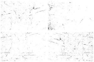 set van grunge texturen vector