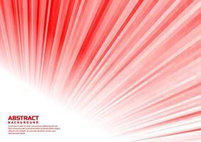 abstract gestreept lijnen wit en rood perspectiefontwerp vector