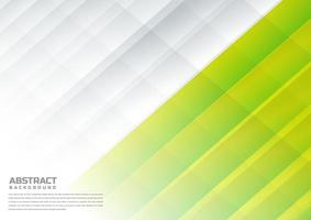 abstract diagonaal wit, citroengroen op achtergrond.