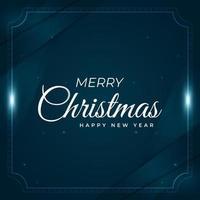 Kerstmis blauwe diagonale overlappende hoek en framekaart
