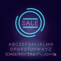 neon licht lettertype sjabloon
