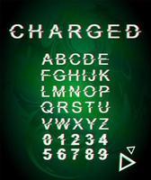 geladen glitch-lettertypesjabloon vector