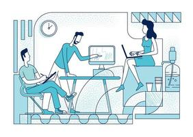 collega's coworking silhouet