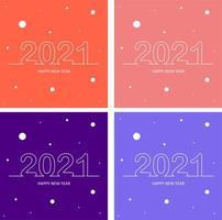 Nieuwjaarsachtergronden van de tekst van 2021 vector