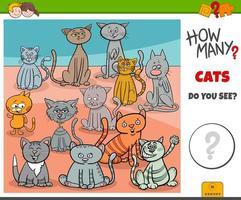hoeveel katten educatief spel voor kinderen vector