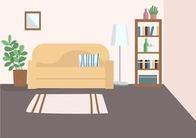 lege woonkamer