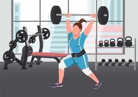 vrouw gewichtheffen scène