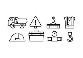 Bouw Icon Set vector