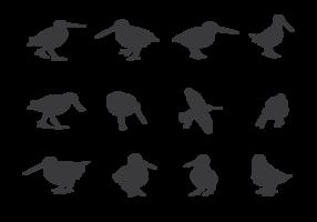 snipe silhouetten vector