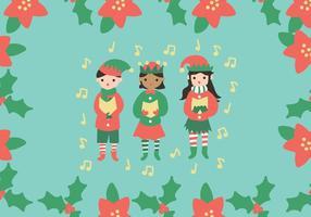 kinderen zingen carolers vector