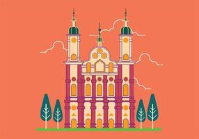 Vectorillustratie van de abdij van St. Gallen in Zwitserland vector