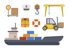 vlakke havenvectoren vector
