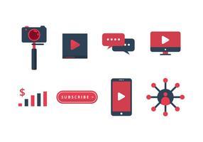 Gratis Video Content Creator Icons vector