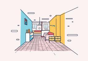 Laminaat in de slaapkamer vector