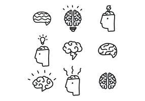 Creatieve mind-vectoren vector