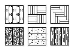 laminaat platte pictogrammen