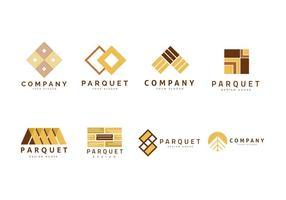 Logo voor parket, laminaat en vloeren vector collectie