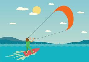 Gratis Kitesurfen Illustratie vector