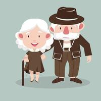 bejaarde echtpaar mensen vector