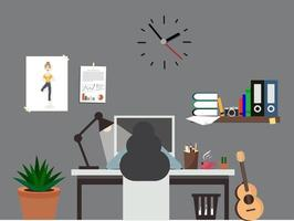 vrouw werk kantoorruimte interieur werkruimte