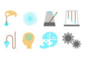 Set van hypnose icoon vector