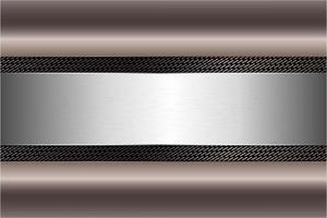 moderne bruine en zilveren metalen achtergrond