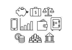 Gratis Money Line Icon Vector