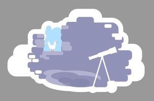 astronoom toren badge vector