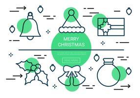 Gratis Lineaire Kerstmis Vector Pictogrammen